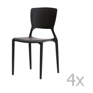 Zestaw 4 krzeseł Canett Freja