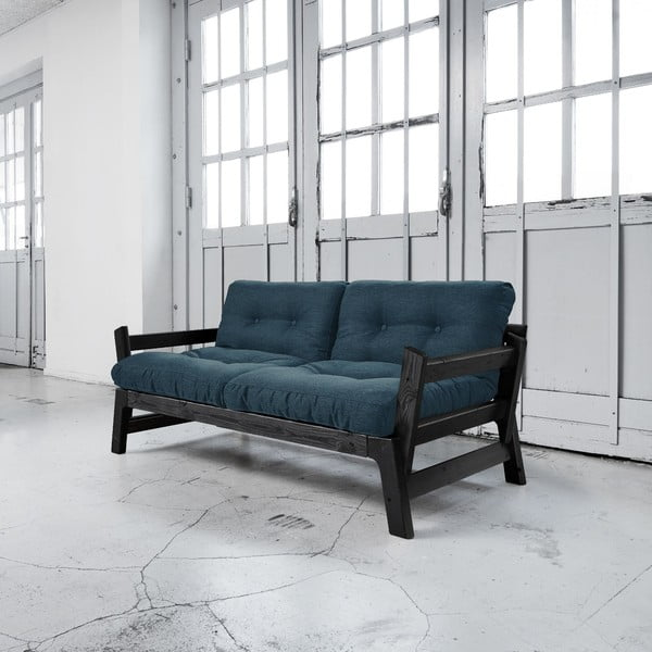Sofa rozkładana Karup Step Black/Deep Blue