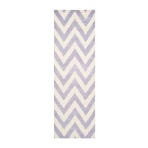 Dywan wełniany Stella Light Purple, 76x243 cm