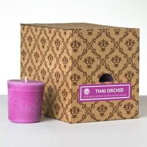 Zestaw 12 świeczek zapachowych Thai Orchid, 15 godzin palenia