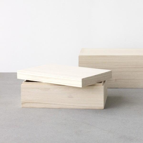 Zestaw 2 drewnianych pudełek Boite