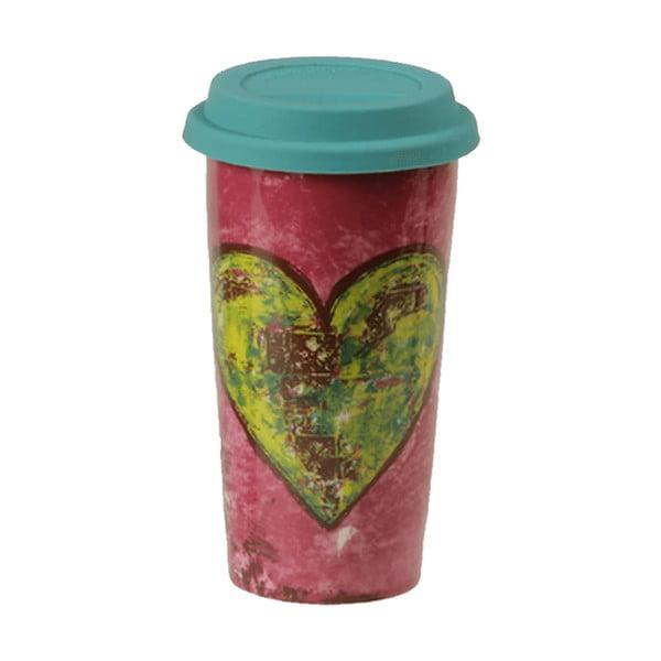 Ceramiczny kubek podróżny Heart