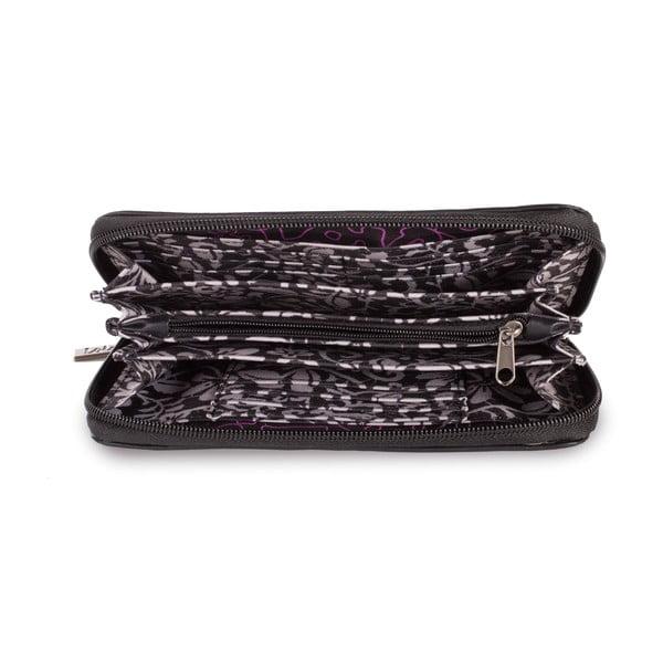 Portfel Lois Black, 19x10 cm