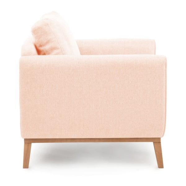 Różowy fotel Vivonita Milton