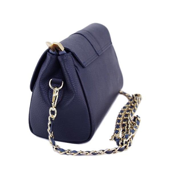Skórzana torebka Paola Navy