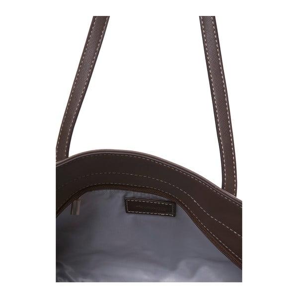 Skórzana torebka przez ramię Marta Ponti Zippy, jasnobrązowa/ciemnobrązowa