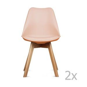 Zestaw 2 różowych krzeseł Opjet Scandinavie