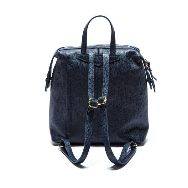 Niebieski skórzany plecak Sofia Cardoni Chiara