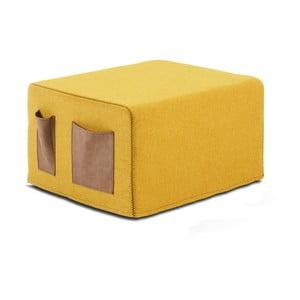 Żółty puf rozkładany La Forma Verso, 76x200 cm