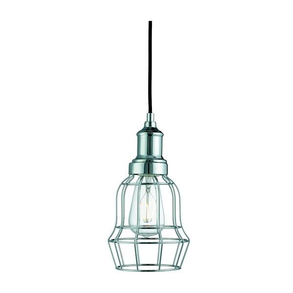 Lampa wisząca Searchlight Bell Cage, chromowana
