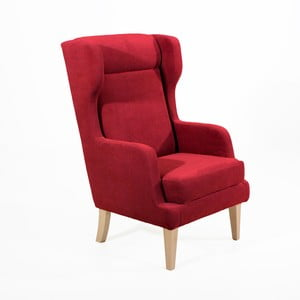 Czerwony fotel Max Winzer Bennet Suede