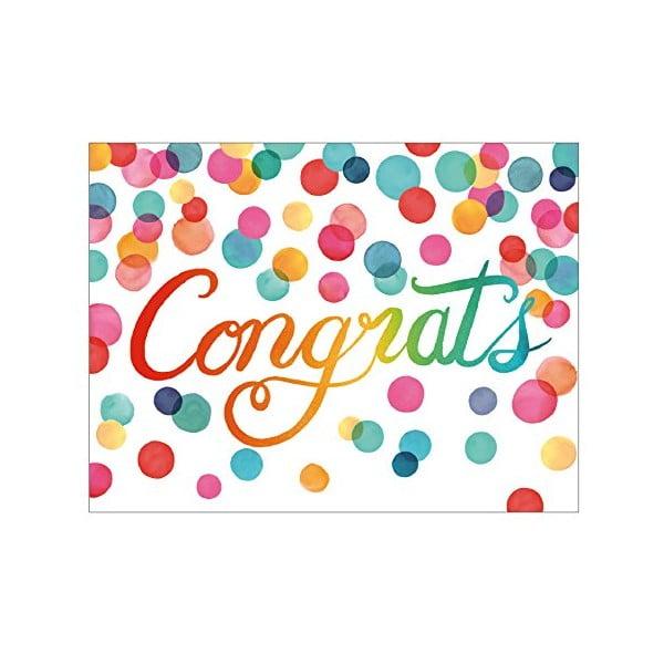 Zestaw etykietek prezentowych Galison Mudpuppy Congratulations, 16 sztuk