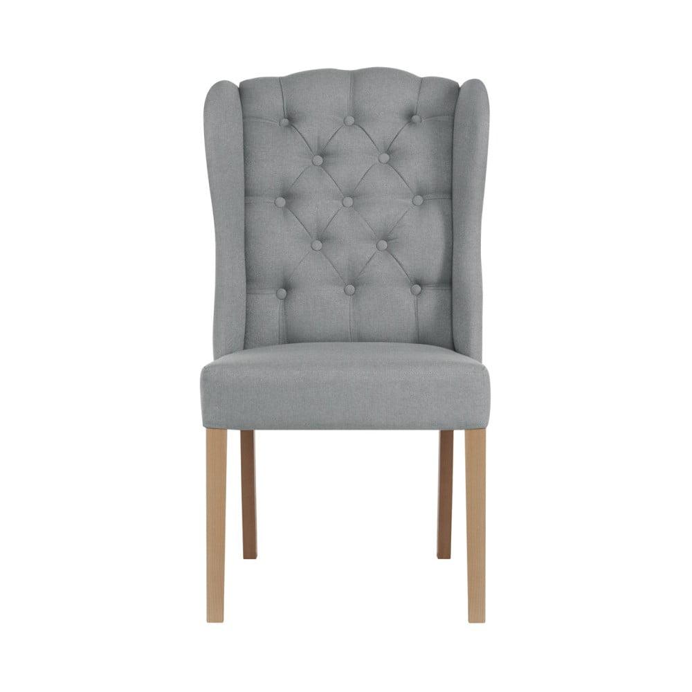 Jasnoszare krzesło Jalouse Maison Hailey