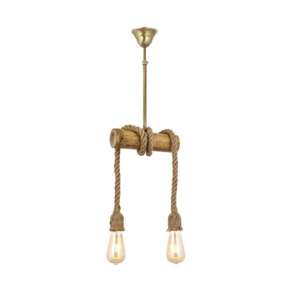Lampa wisząca z drewna grabu Bambu