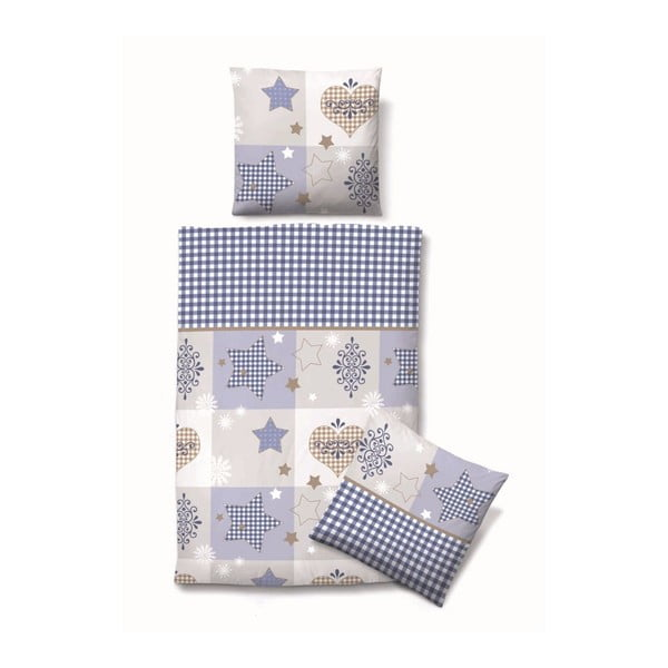 Pościel Biber Komfort Stars Blue, 135x200 cm