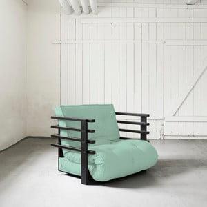 Fotel rozkładany Karup Funk Black/Peppermint