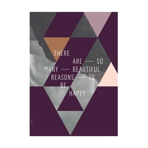 Plakat autorski Beautiful Reasons, A3