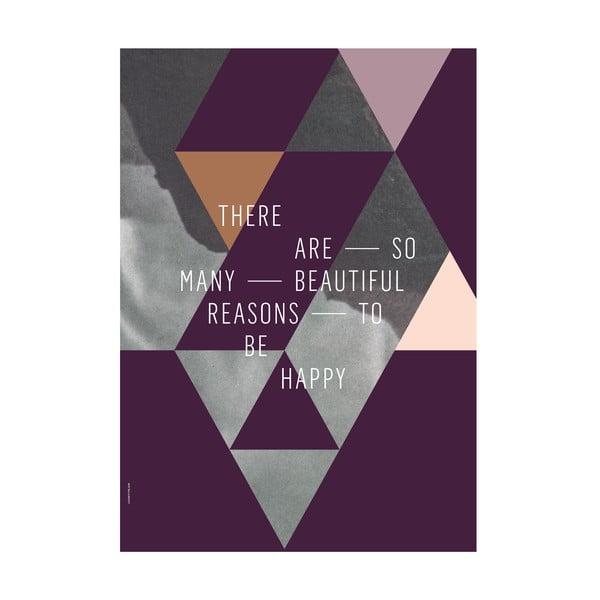 Plakat autorski Beautiful Reasons, A3
