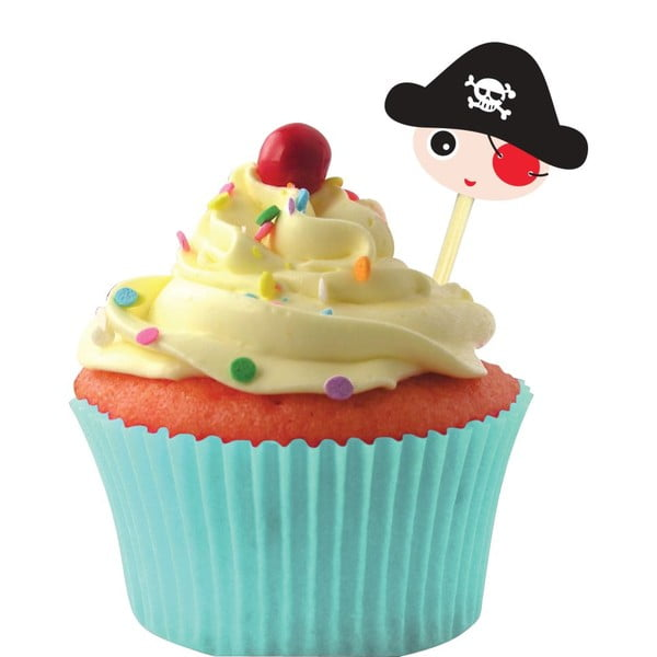 Zestaw Cup Cake Dekoration Pirate