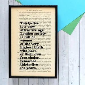 Plakat w drewnianej ramie Oscar Wilde Attractive Age