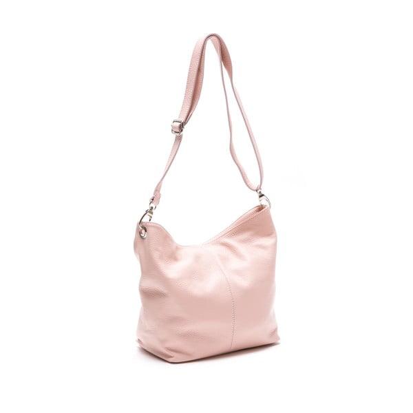 Skórzana torebka Luisa Vanini 1029, różowa