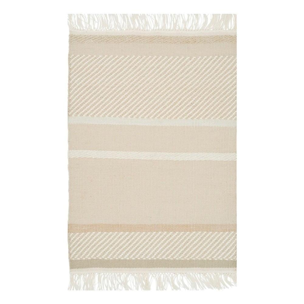 Niesamowite Beżowy dywan ręcznie tkany Linie Design Unito, 170x240 cm | Bonami JM92