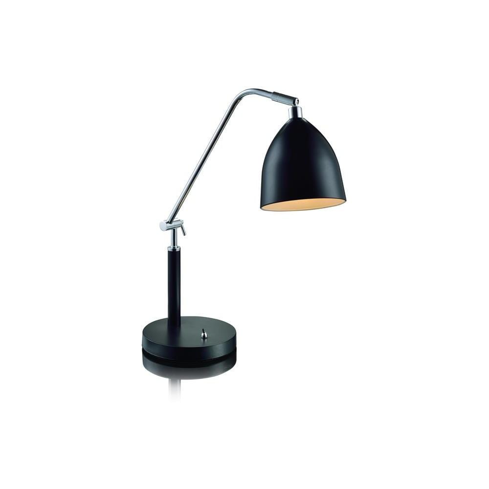 Czarna lampa stołowa Markslöjd Fredrikshamn