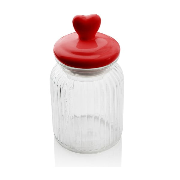 Pojemnik szklany z serduszkiem Sabichi Heart, 900 ml