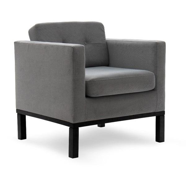 Fotel VIVONITA Jonan Light Grey, czarne nogi