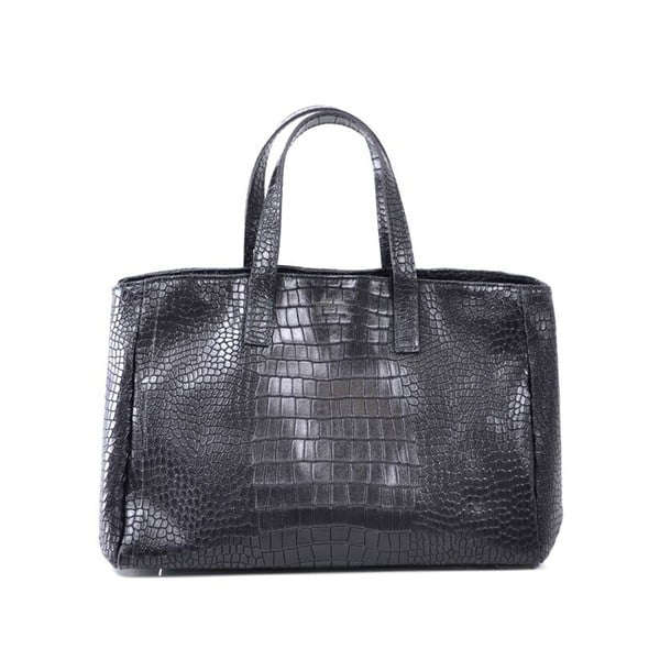 Skórzana torebka Johanne, czarna