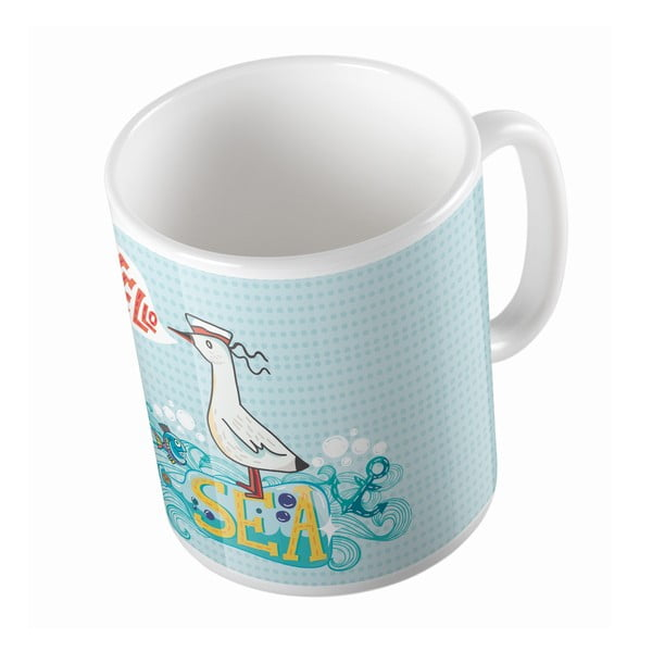 Kubek ceramiczny Hello Sea, 330 ml