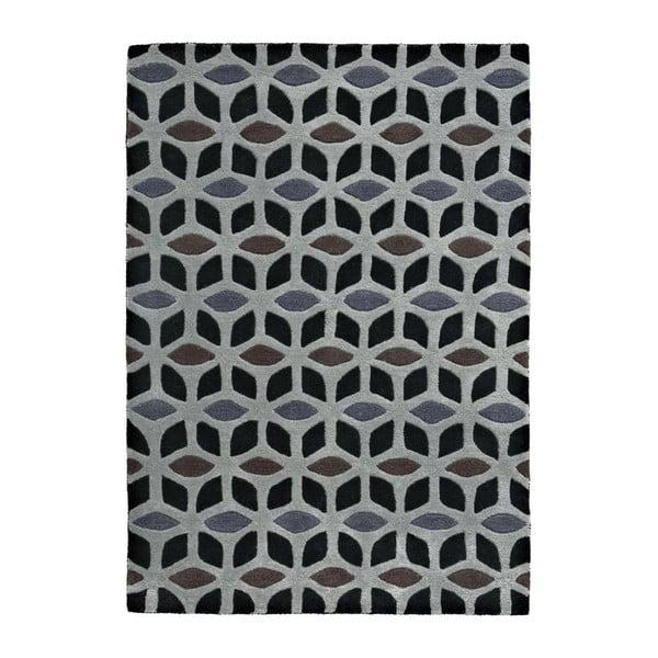 Dywany Fusion Black/Grey, 150x230 cm