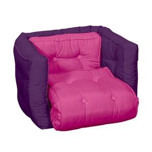 Fotel dziecięcy Karup Baby Dice Pink/Purple