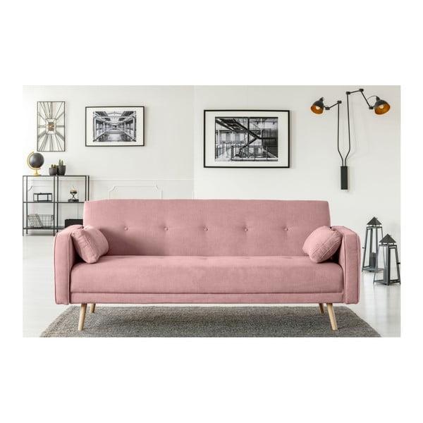 Różowa 3-osobowa sofa rozkładana Cosmopolitan Design Stuttgart