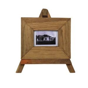 Ramka na zdjęcia z drewna tekowego HSM Collection Nesia, 27 x 23 cm