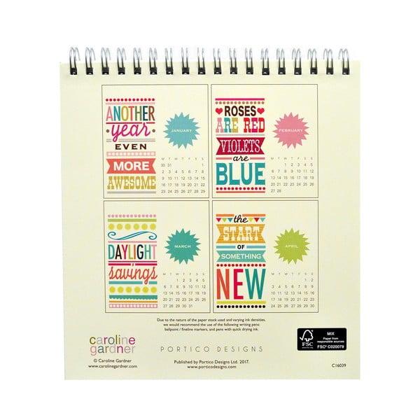 Kalendarz na stół Portico Designs Say So
