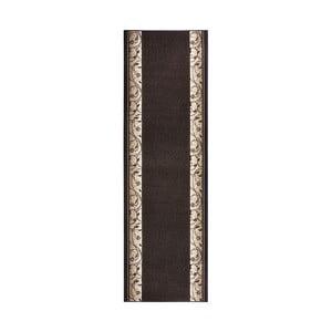 Dywan Basic Elegance, 80x200 cm, ciemnobrązowy