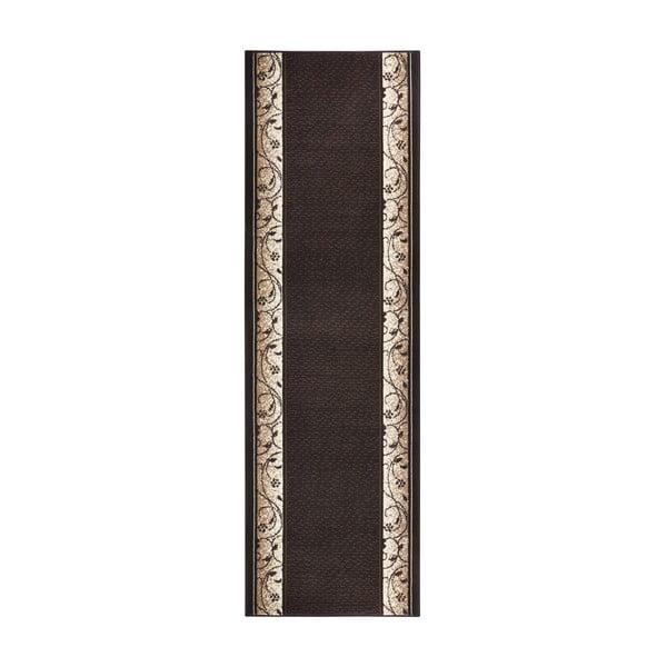 Dywan Basic Elegance, 80x400 cm, ciemnobrązowy