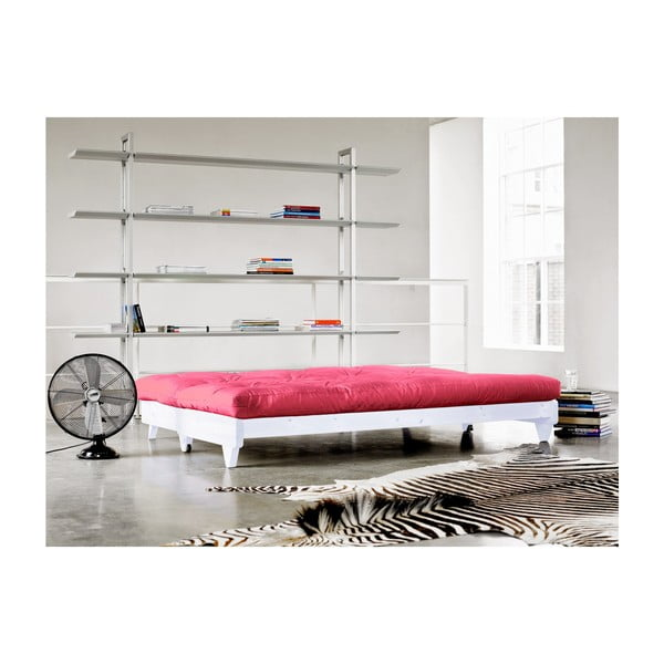 Sofa rozkładana Karup Fresh White/Magenta