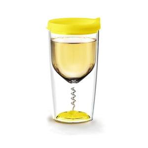 Termos na wino z korkociągiem Vino Opener Yellow