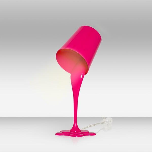 Różowa lampa stołowa Homemania Ximena