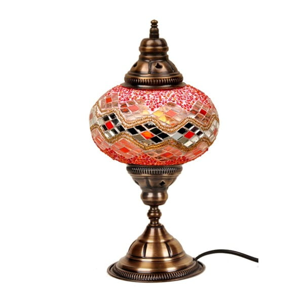 Szklana lampa Homemania Zeus, ⌀ 17 cm