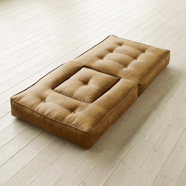 Fotel rozkładany Karup Cube Cognac