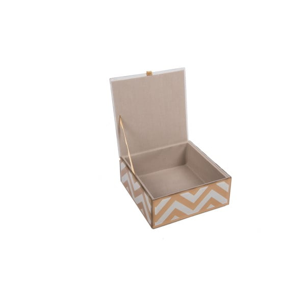 Szklana szkatułka na biżuterię Zig Zag