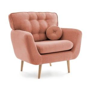 Łososiowy fotel z poduszką VIVONITA Malva