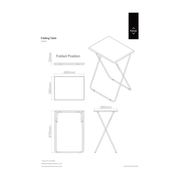 Stolik rozkładany Folding Table