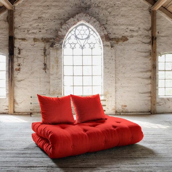 Sofa rozkładana Karup Shin Sano Natur/Red