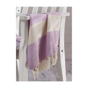 Ręcznik hammam Elmas Lilac, 100x180 cm