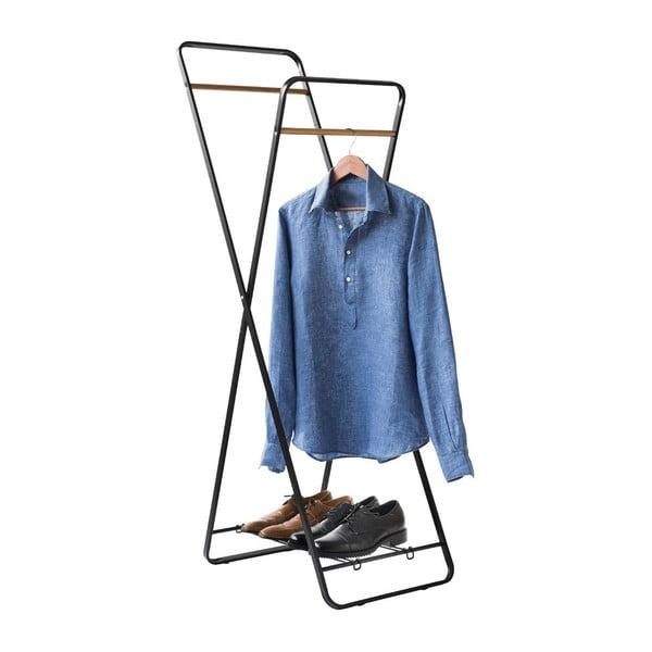 Stojak na ubrania z półeczką Noir Shape