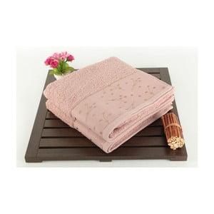 Zestaw 2 różowych ręczników Tomur Dusty Rose, 50x90cm